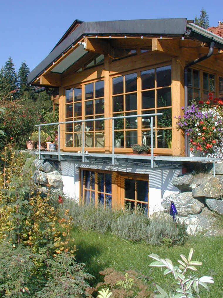 Fensterfront aus Holz von Schreinerei Haberstock, Bad Hindelang